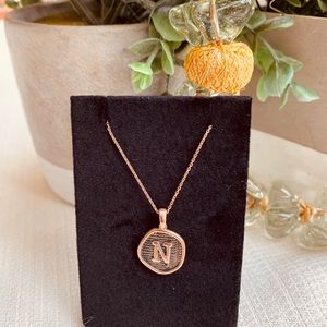 Jewelry - Sterling Silver RoseGold Plated Initial necklaces